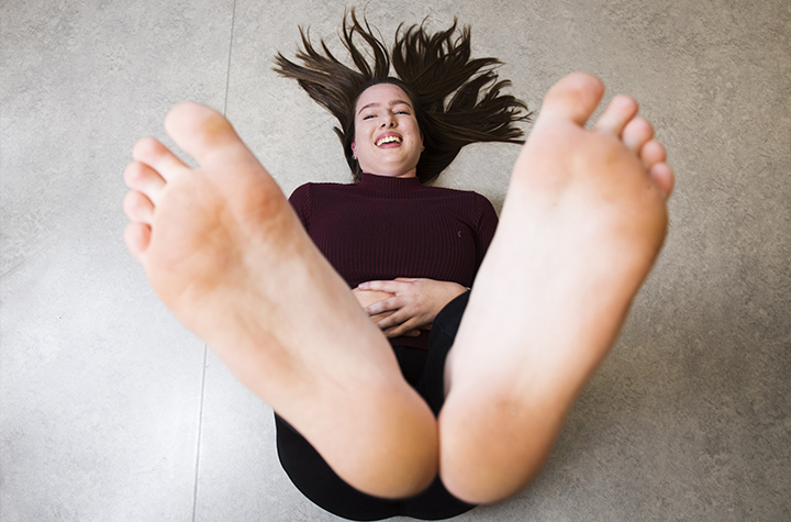 Third-year Bachelor of Podiatry student Kesia Ryan Byrnes