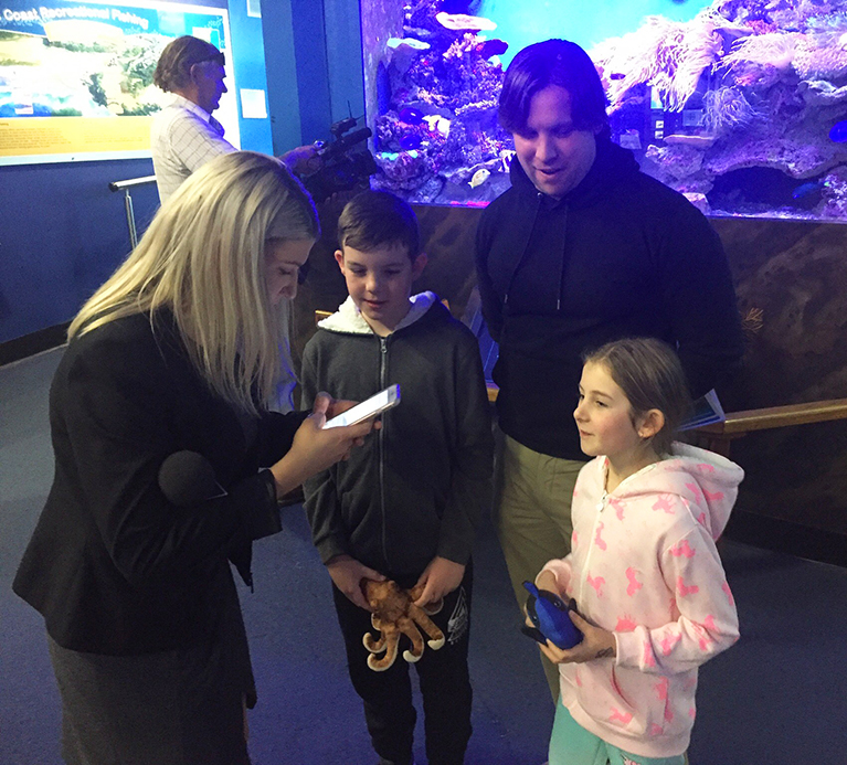 Shotbolt family are 100,000th visitors to Solitary Islands Aqarium