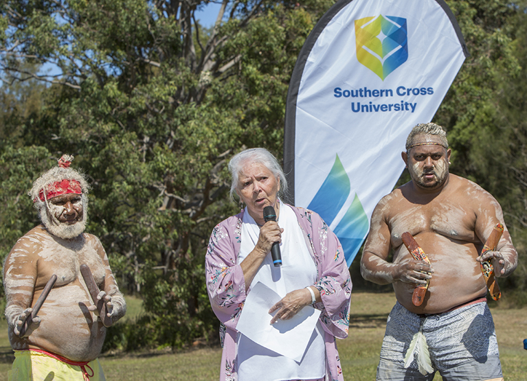 Elder Aunty Beatrice Ballangarry at Coffs Harbour sod turning
