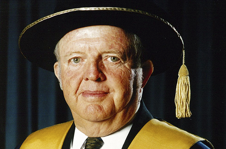 Former Chancellor Dr Lionel Phelps, AO