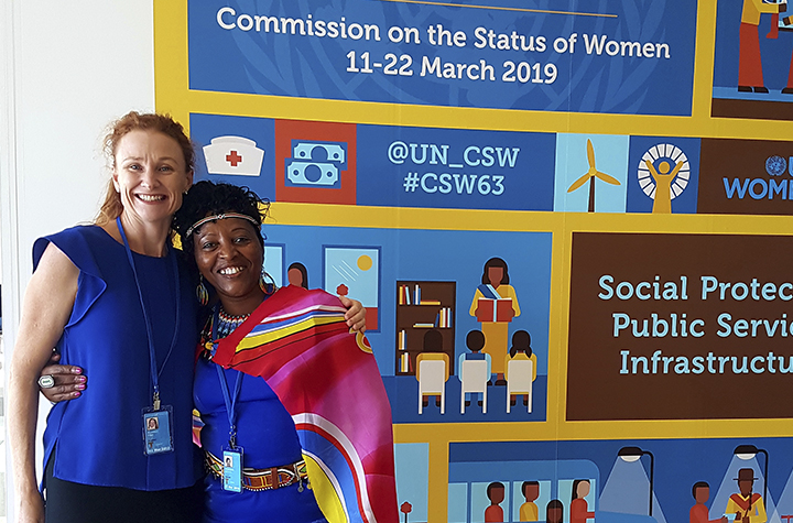 Angela Powditch (left) at CSW63