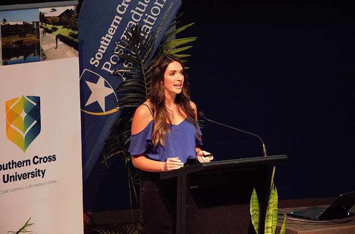 Psychology student Rachel Clark at 14th Annual Psychology Honours Conference