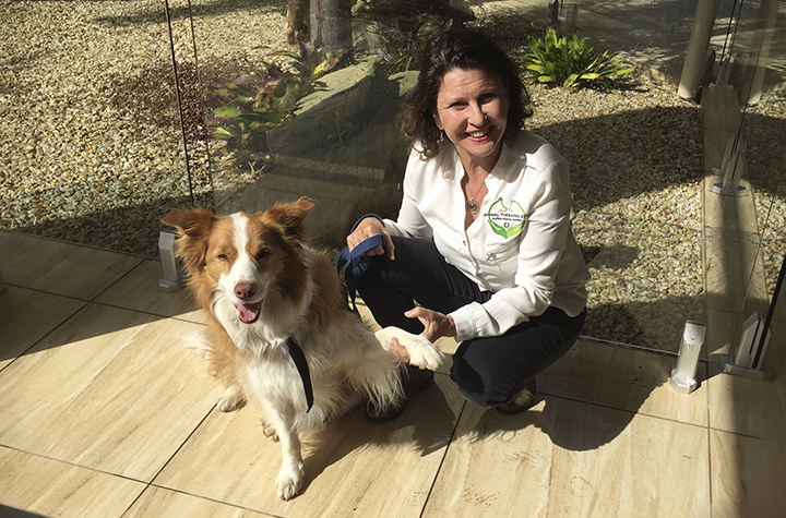 Wendy Coombe and her dog Jack