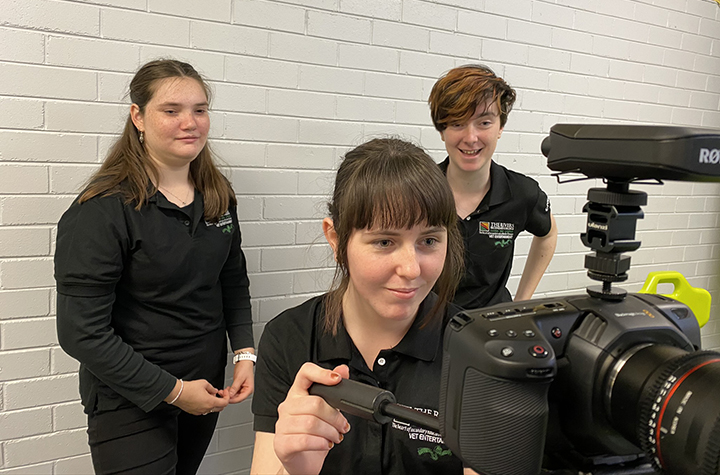 Rivers College Kadina students learn Nextwave Online filmmaking