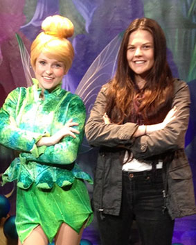 Jammi-Lee Scott with her Disney colleague, Tinkerbell