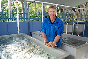 Dr Ken Cowden at the National Marine Science Centre in Coffs Harbour