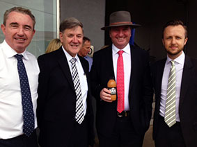 Kevin Hogan, Peter Lee, Barnaby Joyce and Ben Roche